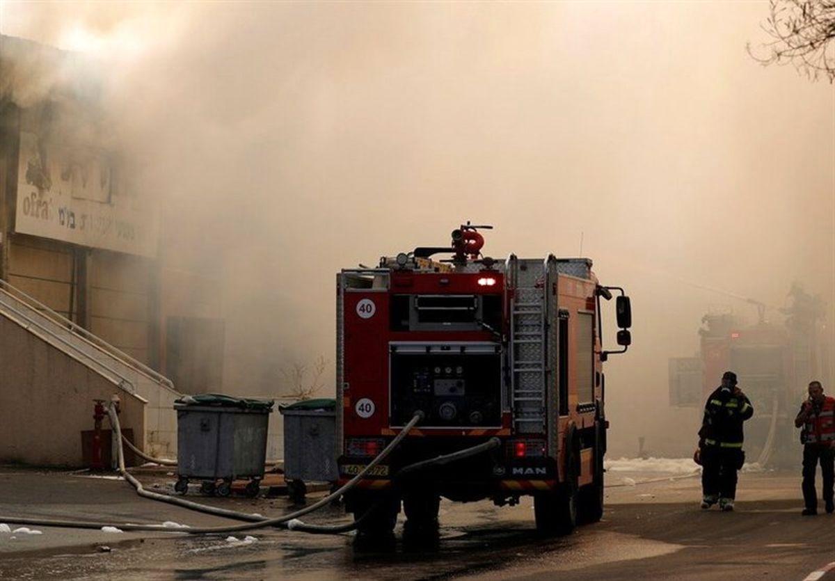 آتشسوزی گسترده در حوالی کارخانه صنایع نظامی رژیم صهیونیستی