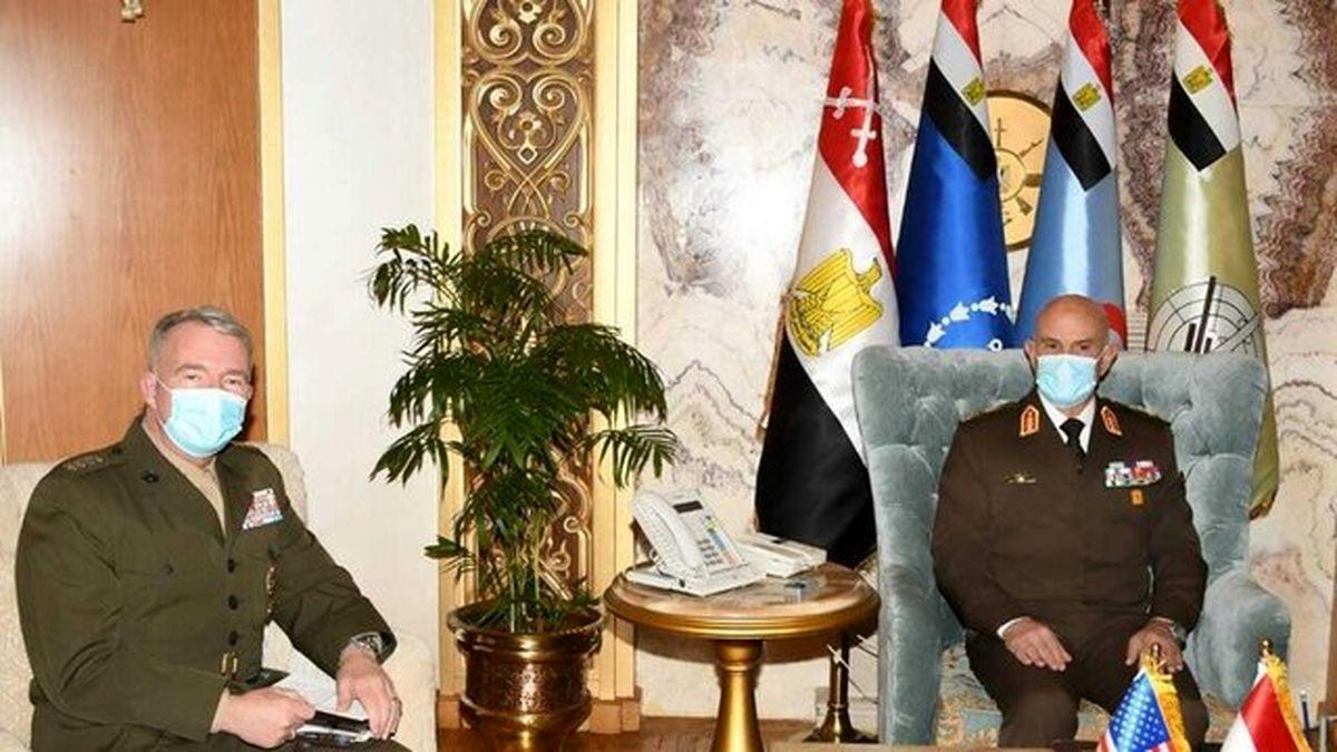 دیدار فرمانده سنتکام با رئیس جمهور و رئیس ستاد ارتش مصر