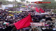 راهپیمایی ۲۲ بهمن در بلوار آزادی شیراز