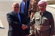 نخست وزیر عراق وارد شهر اربیل شد