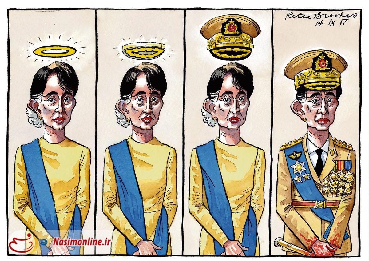 کاریکاتور روزنامه تایمز لندن از آنگسانسوچی