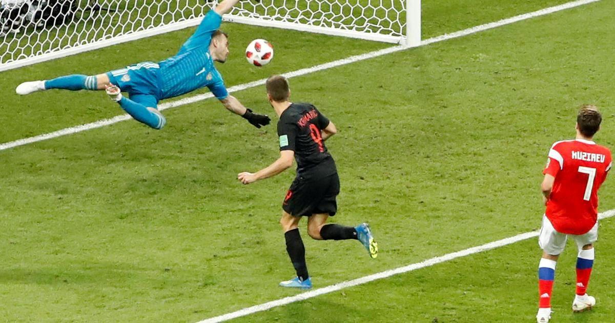 خلاصه دیدار تیمهای روسیه و کرواسی