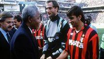 باشگاه میلان یاد و خاطره نلسون ماندلا را زنده کرد