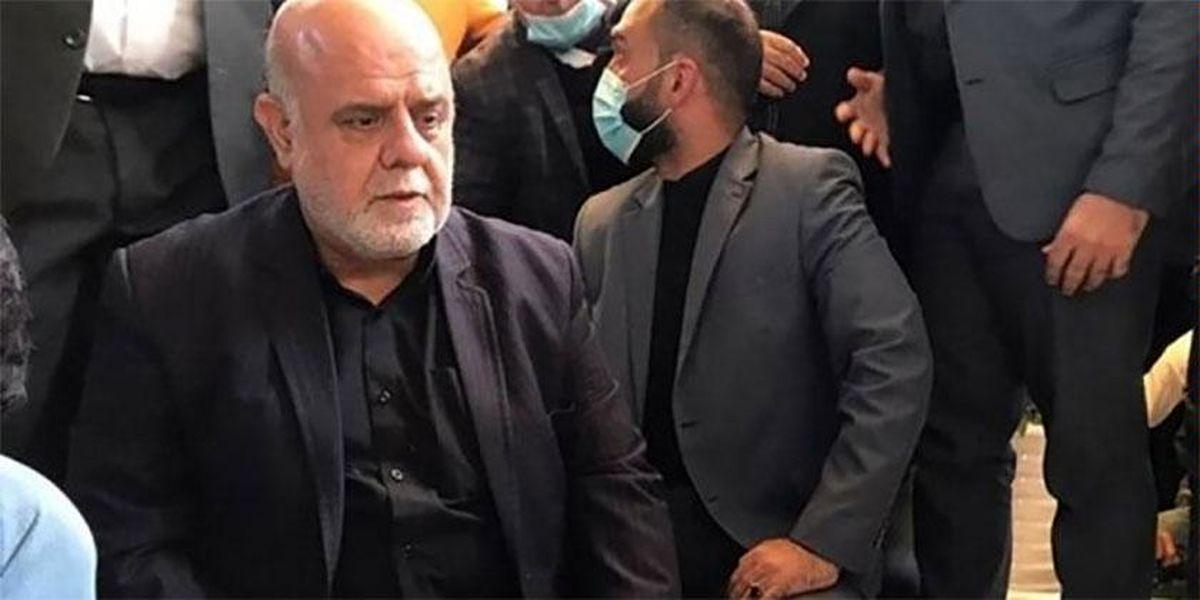 حضور ایرج مسجدی بر مزار شهید ابومهدی المهندس