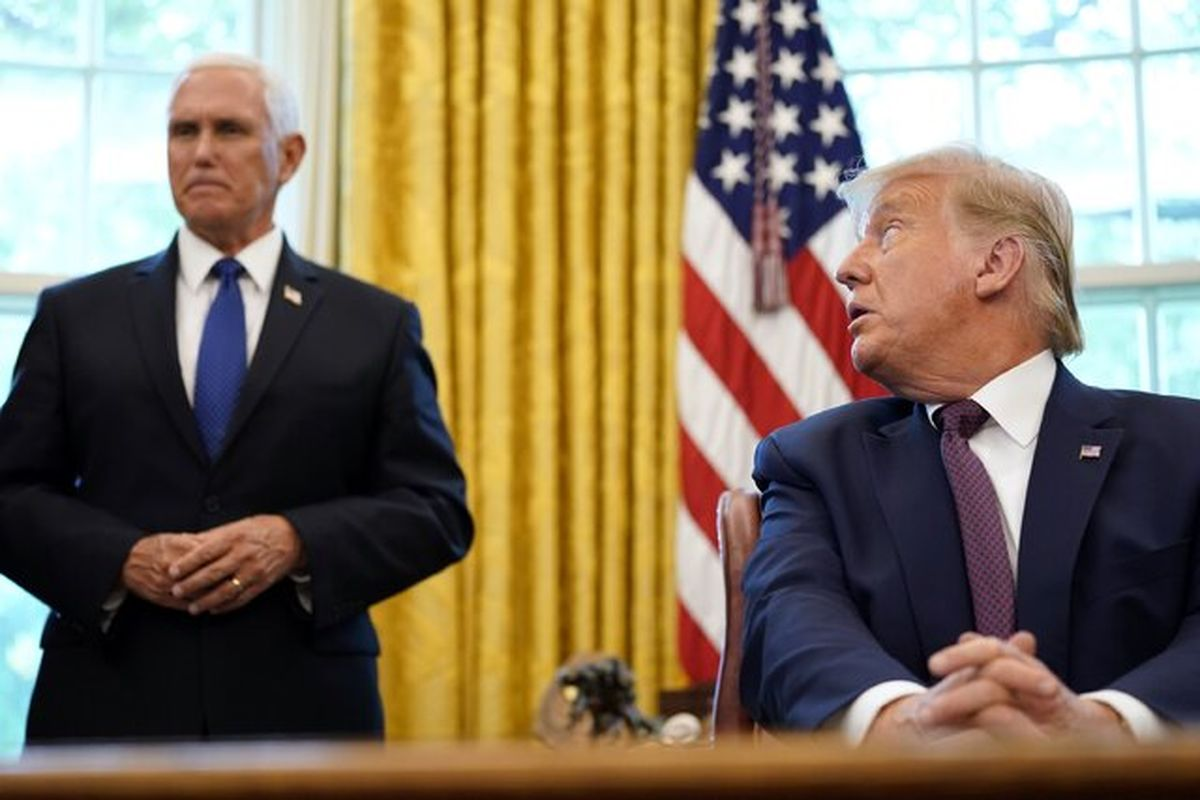 ترامپ در حال بررسی شرکت در انتخابات 2024 بدون پنس
